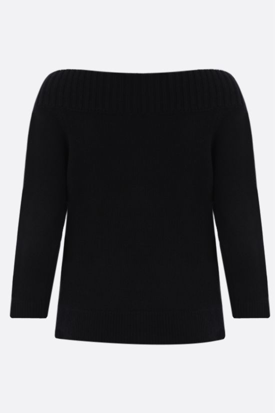 ALEXANDER McQUEEN: pure cashmere cropped cardigan Color Black_2