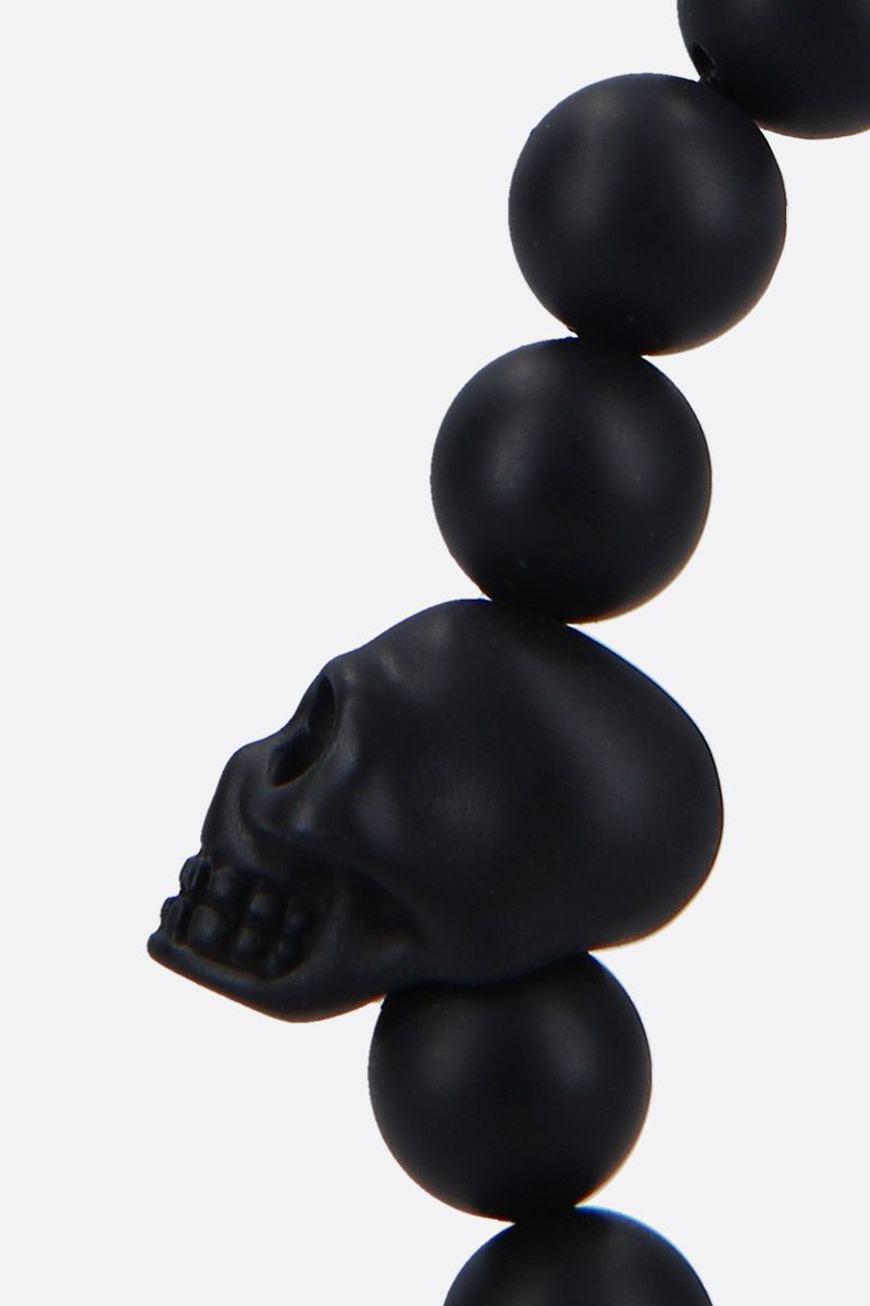 ALEXANDER McQUEEN: Skull resin bracelet Color Black_2