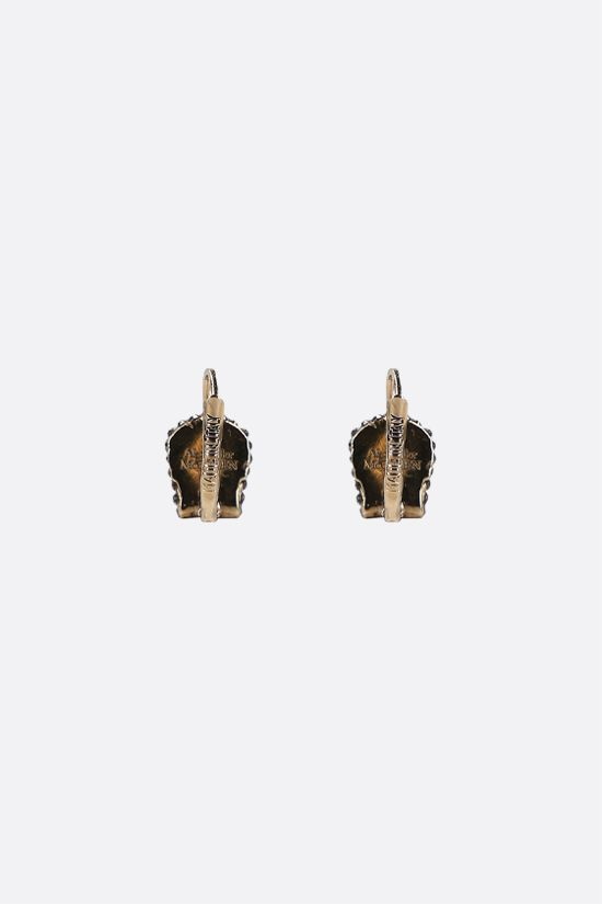 ALEXANDER McQUEEN: Skull-detailed brass earrings Color Gold_2
