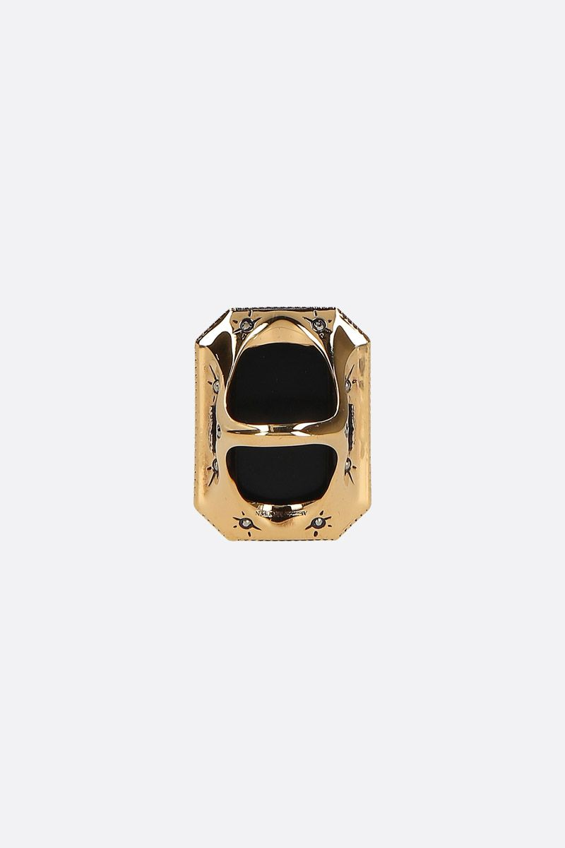 ALEXANDER McQUEEN: Butterfly brass ring Color Gold_2