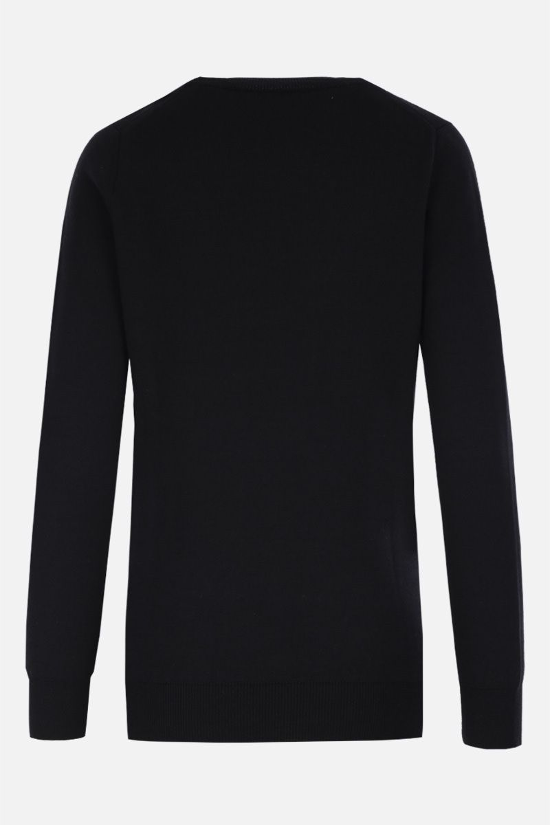 ALEXANDER McQUEEN: deconstructed pullover in wool silk blend Color Black_2