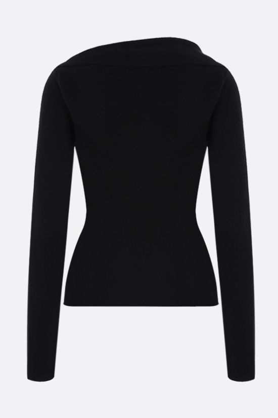 ALEXANDER McQUEEN: knot-detailed wool pullover Color Black_2