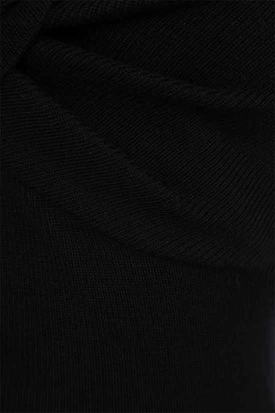ALEXANDER McQUEEN: knot-detailed wool pullover Color Black_3