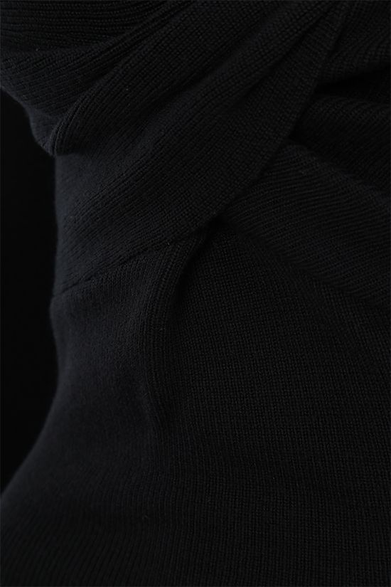 ALEXANDER McQUEEN: knot-detailed wool pullover Color Black_4