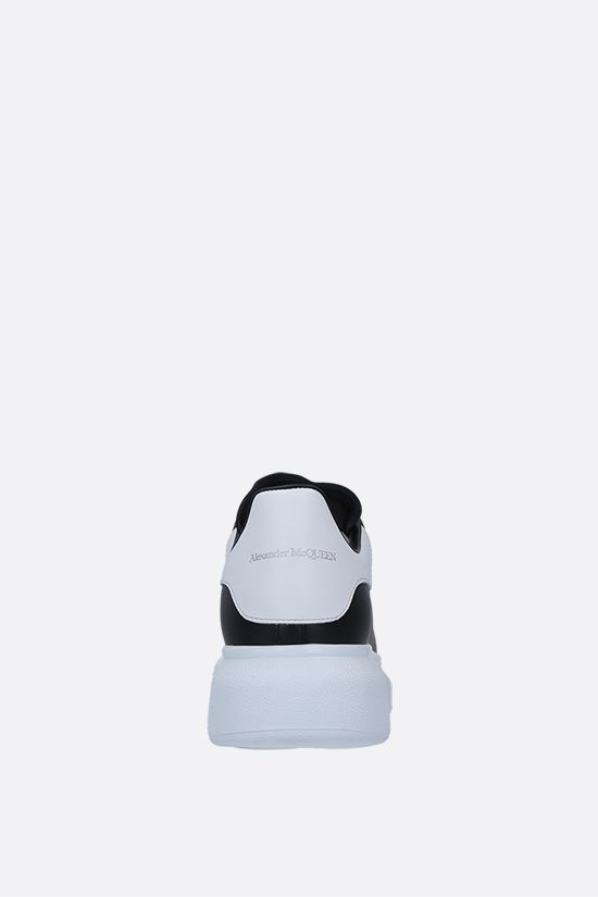 ALEXANDER McQUEEN: Oversize smooth leather sneakers Color Black_3