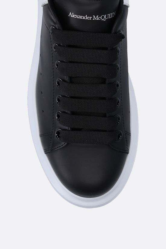 ALEXANDER McQUEEN: Oversize smooth leather sneakers Color Black_4