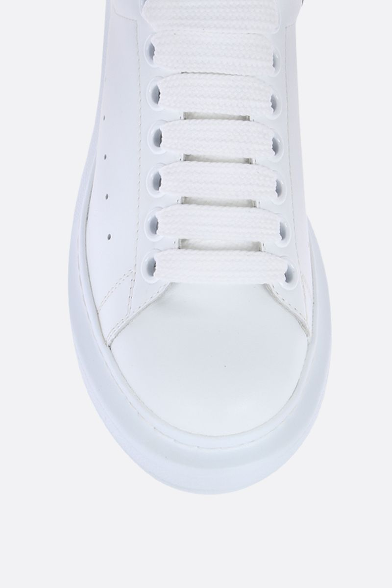 ALEXANDER McQUEEN: Oversize smooth leather sneakers Color Multicolor_4