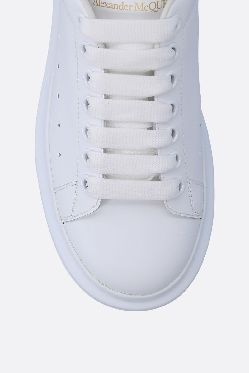 ALEXANDER McQUEEN: Oversize smooth leather sneakers Color White_4