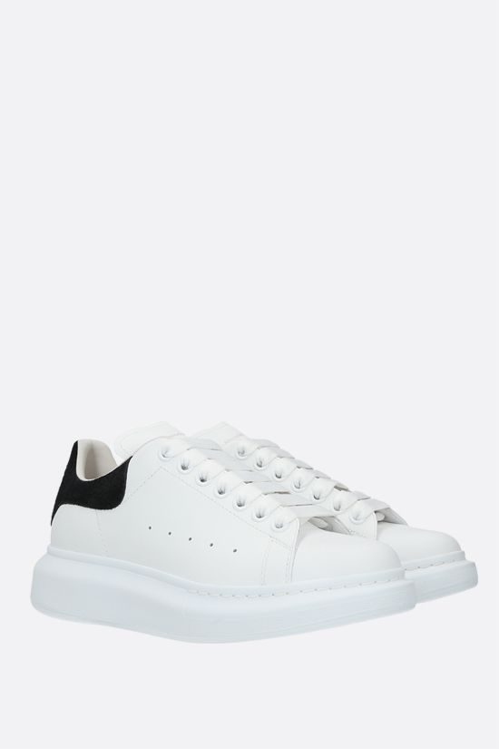 ALEXANDER McQUEEN: Oversize smooth leather sneakers Color Black_2
