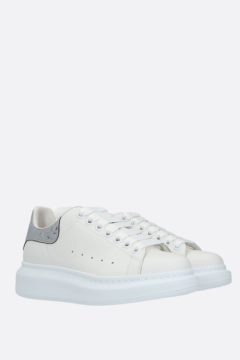 ALEXANDER McQUEEN: Oversize smooth leather sneakers Color Multicolor_2