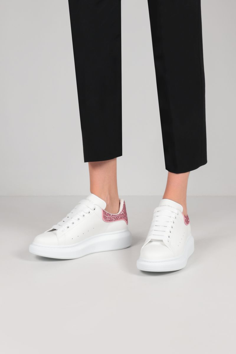 ALEXANDER McQUEEN: Oversize sneakers in Larry leather Color White_2