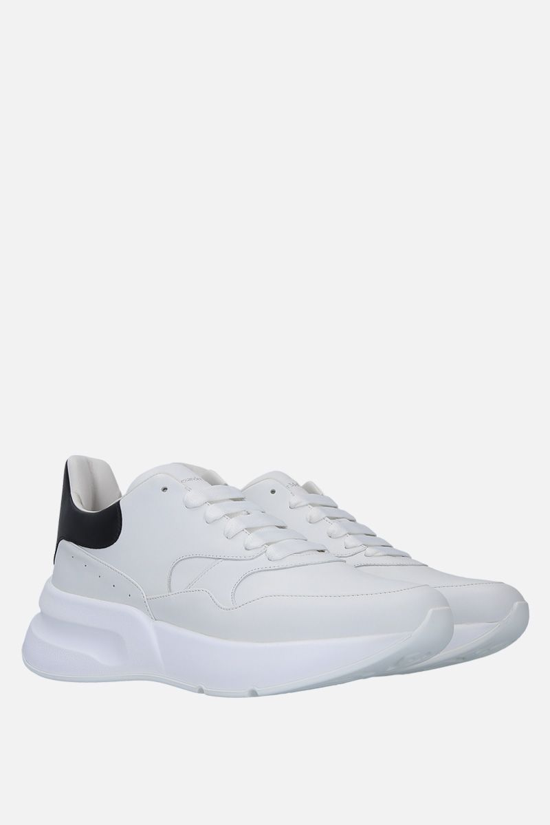 ALEXANDER McQUEEN: Runner Oversize sneakers in smooth leather Color Grey_2
