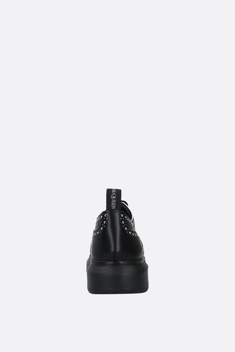 ALEXANDER McQUEEN: Hybrid smooth leather derby shoes Color Black_4