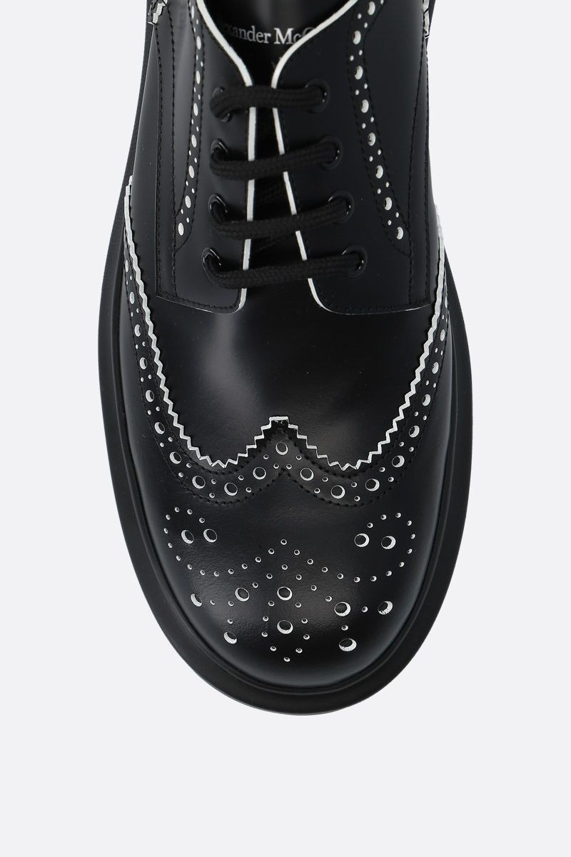ALEXANDER McQUEEN: Hybrid smooth leather derby shoes Color Black_5