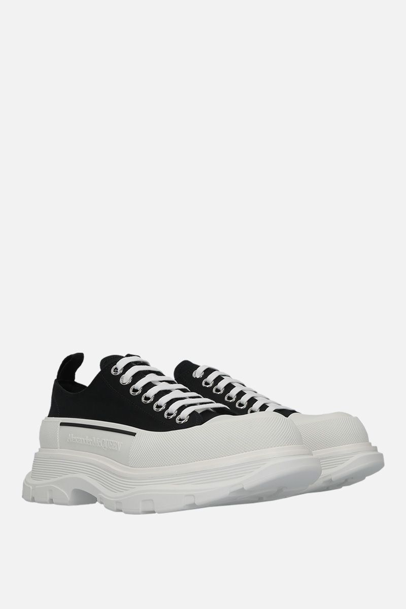 ALEXANDER McQUEEN: Tread Slick canvas sneakers Color White_2