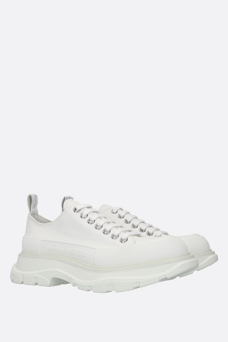 ALEXANDER McQUEEN: canvas low-top sneakers Color White_2