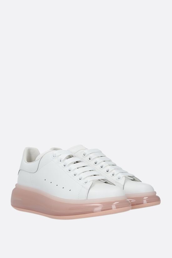 ALEXANDER McQUEEN: Oversize smooth leather sneakers Color White_2