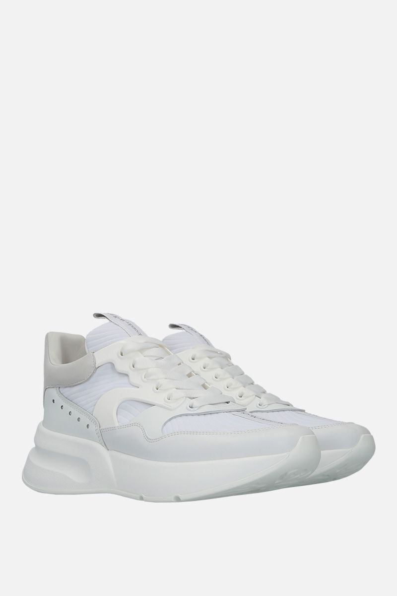 ALEXANDER McQUEEN: Runner Oversize sneakers in neoprene and leather Color White_2