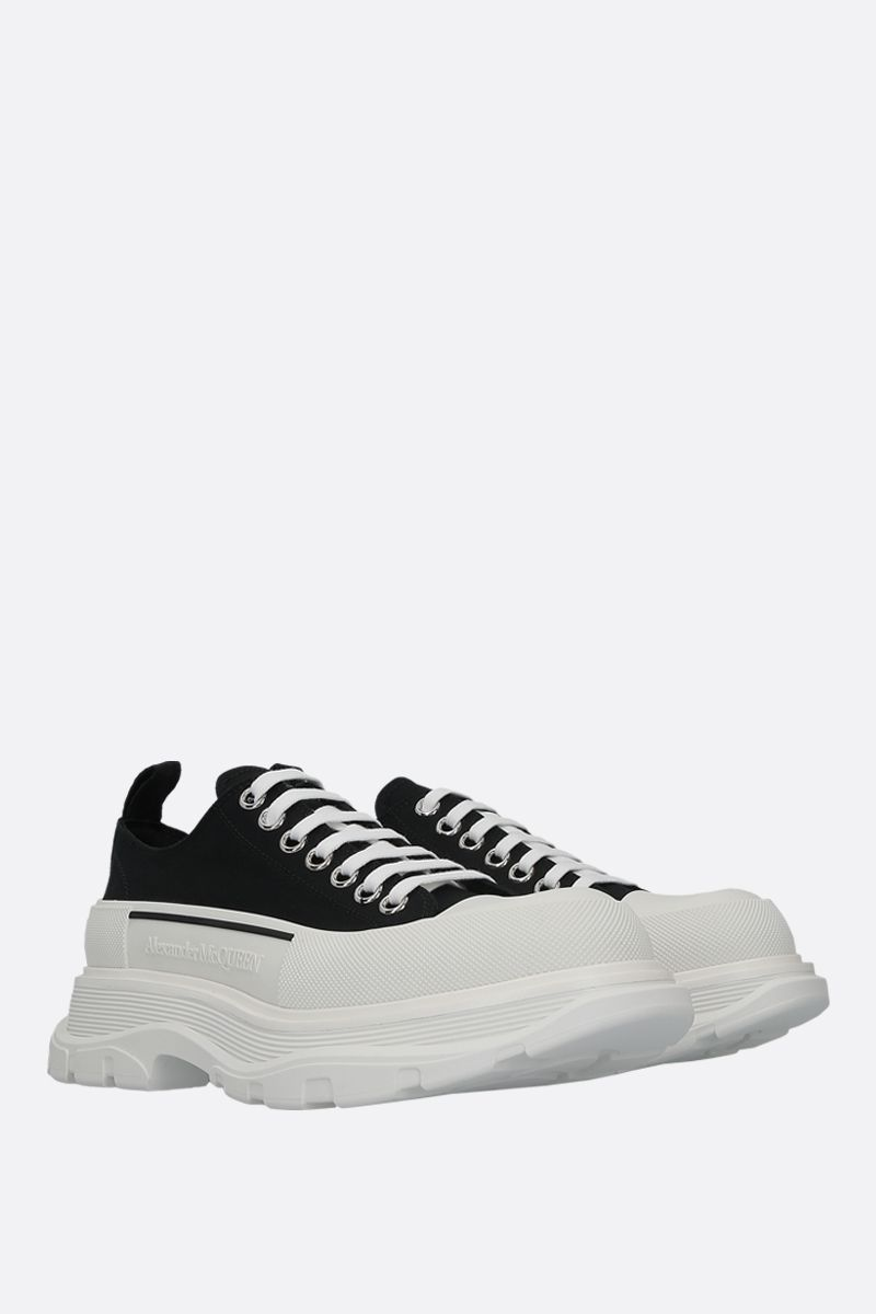 ALEXANDER McQUEEN: Tread Slick canvas sneakers Color Black_2
