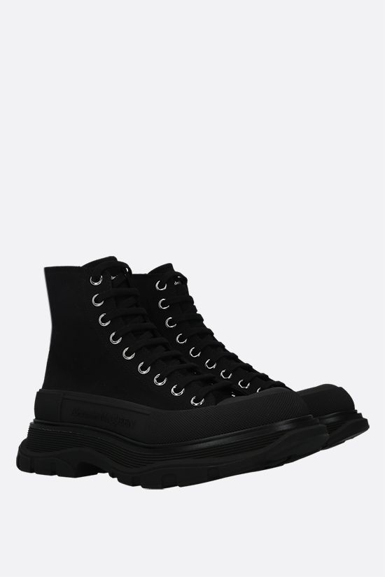 ALEXANDER McQUEEN: Tread Slick canvas high-top sneakers Color Black_2