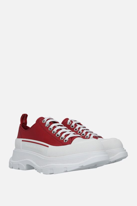 ALEXANDER McQUEEN: Tread Slick smooth leather sneakers Color Red_2