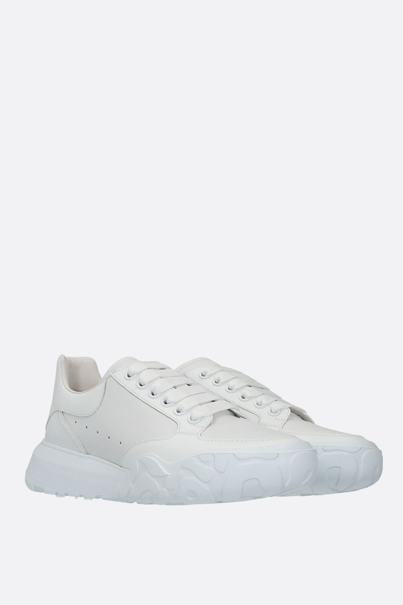 ALEXANDER McQUEEN: Court Oversize smooth leather sneakers Color White_2