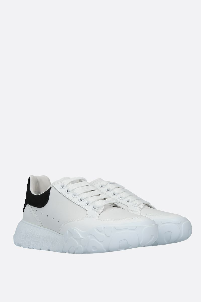 ALEXANDER McQUEEN: Court Oversize smooth leather sneakers Color Black_2