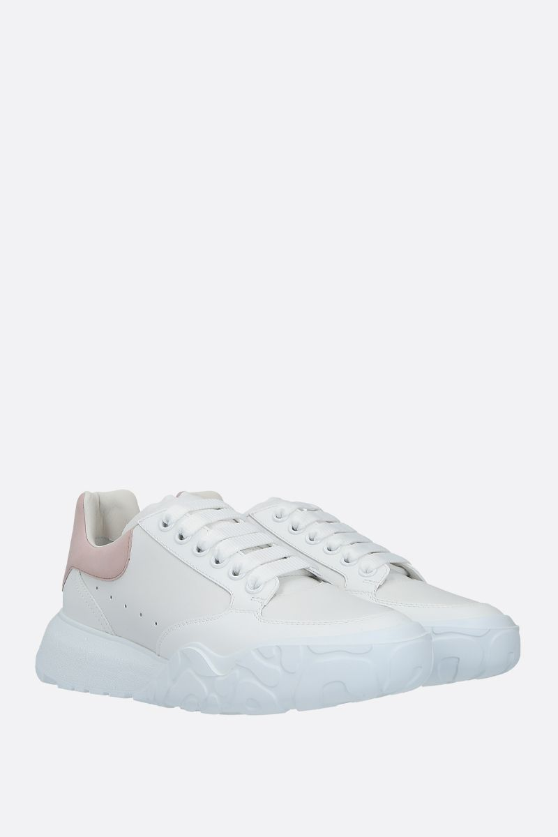 ALEXANDER McQUEEN: Court Oversize smooth leather sneakers Color Multicolor_2