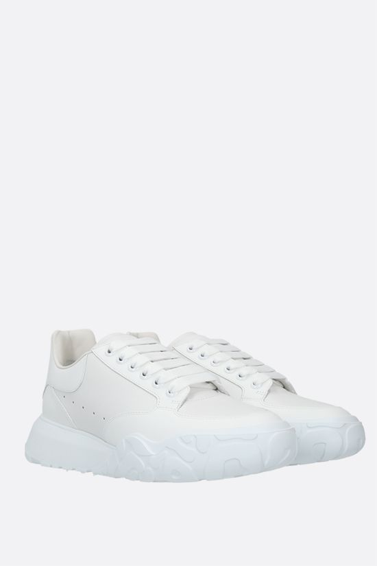 ALEXANDER McQUEEN: Court smooth leather sneakers Color White_2