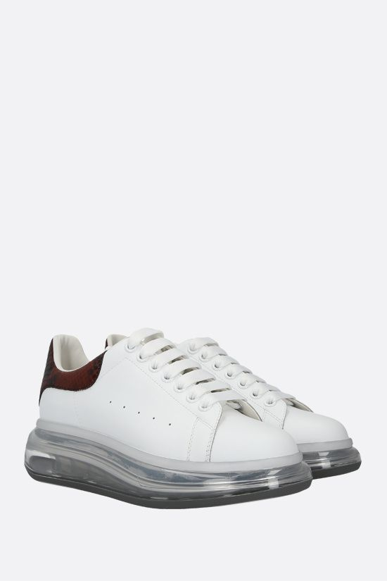 ALEXANDER McQUEEN: Oversize sneaker in Larry leather Color White_2