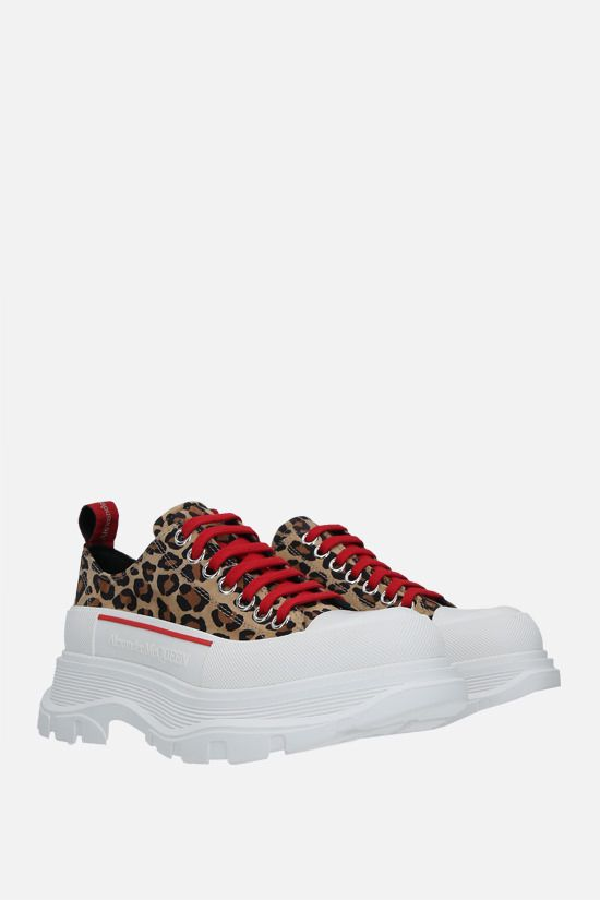 ALEXANDER McQUEEN: Tread Slick leopard suede sneakers Color Animalier_2