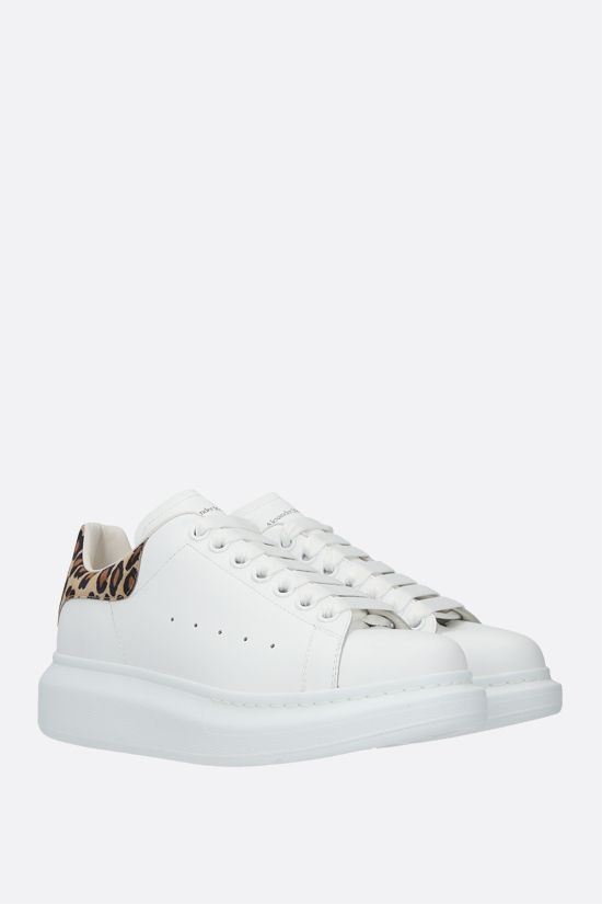 ALEXANDER McQUEEN: Oversize snaekers in Larry leather Color White_2