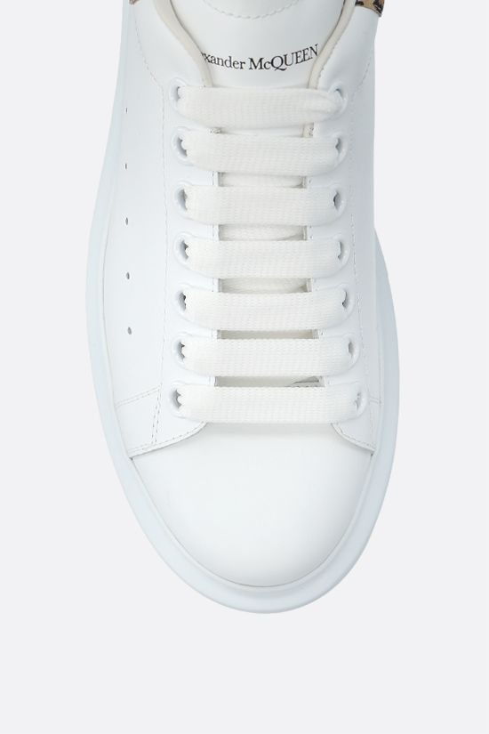 ALEXANDER McQUEEN: Oversize snaekers in Larry leather Color White_4