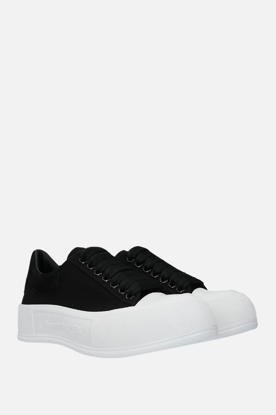 ALEXANDER McQUEEN: canvas and suede sneakers Color Black_2