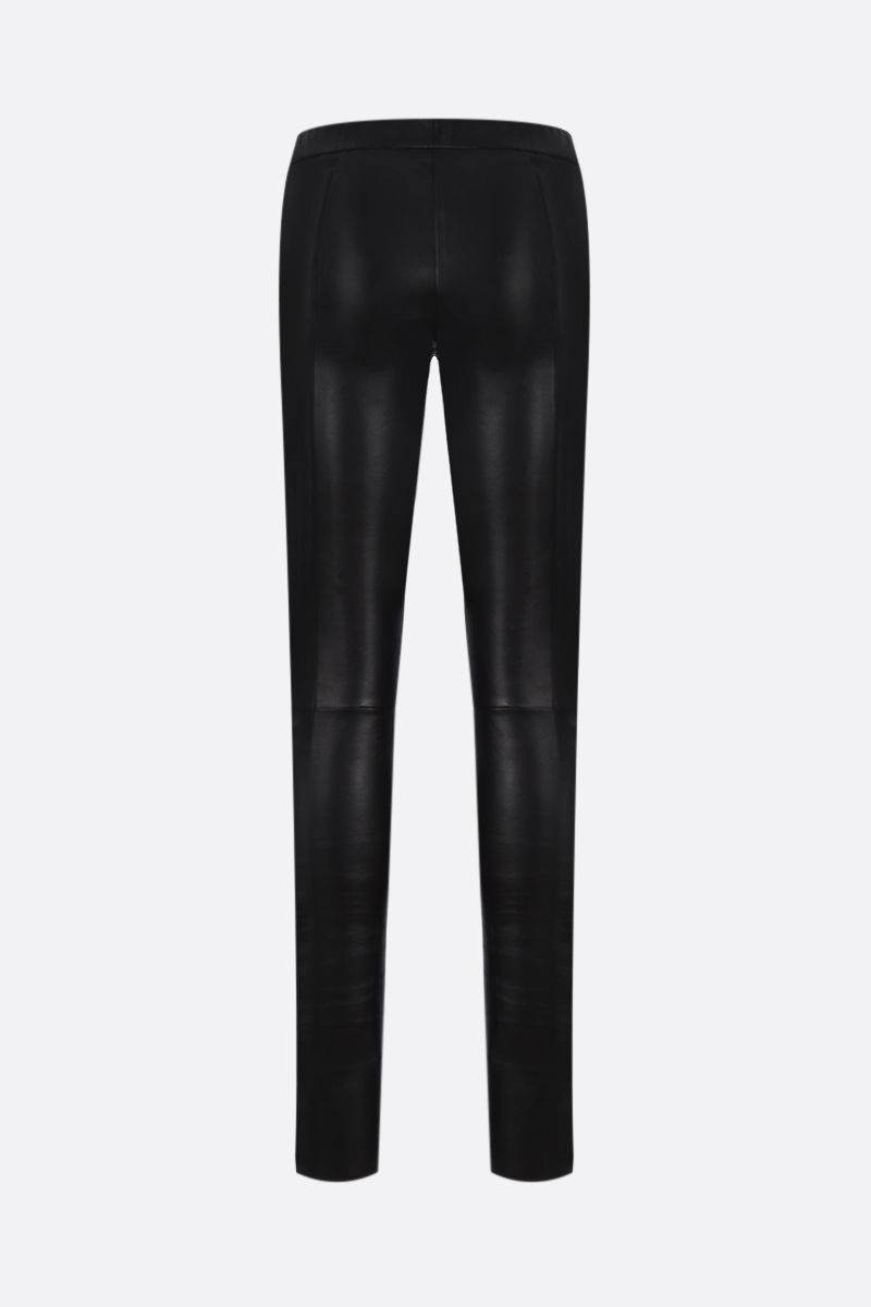 SYLVIE SCHIMMEL: legging Fun in nappa stretch Colore Nero_2