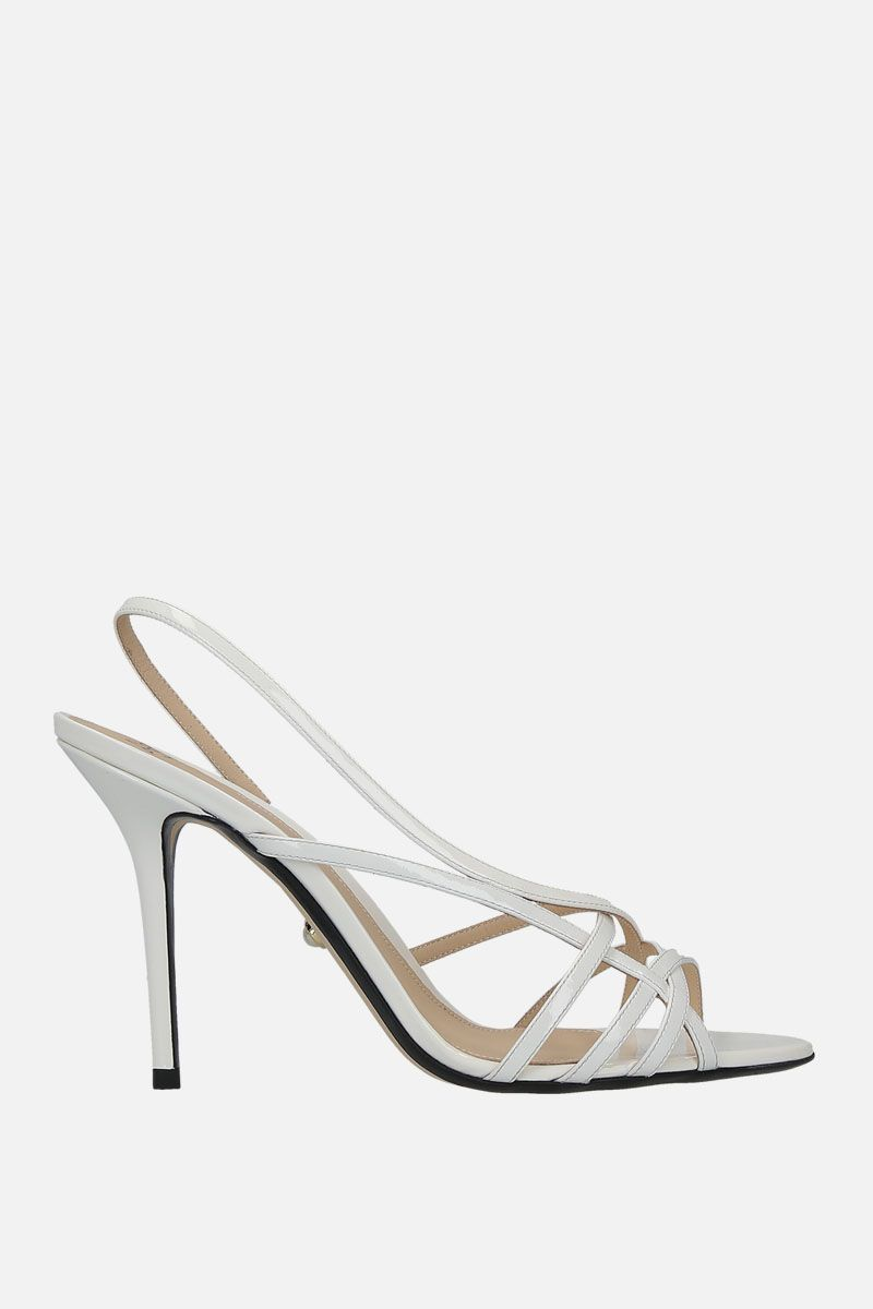 ALEVI' MILANO: Tiffany patent leather sandals Color White_1