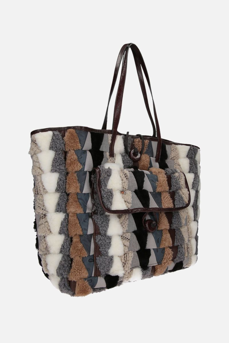 CARMINA CAMPUS: Pyramid shopper in recycled multimaterials Color Neutral_2