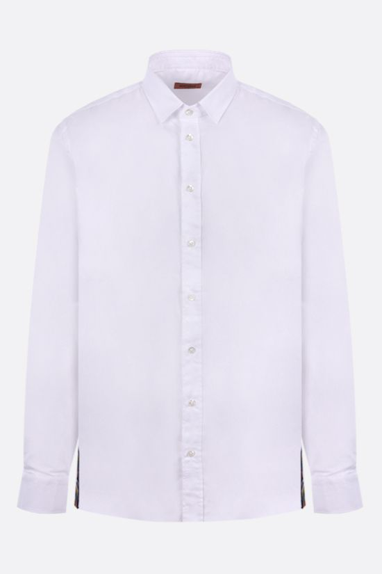 MISSONI: contrasting band-detailed cotton shirt Color White_1