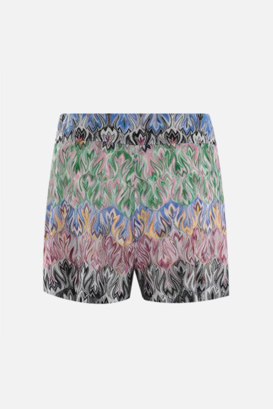 MISSONI: graphic-motif lightweight knit darted shorts Color Multicolor_2