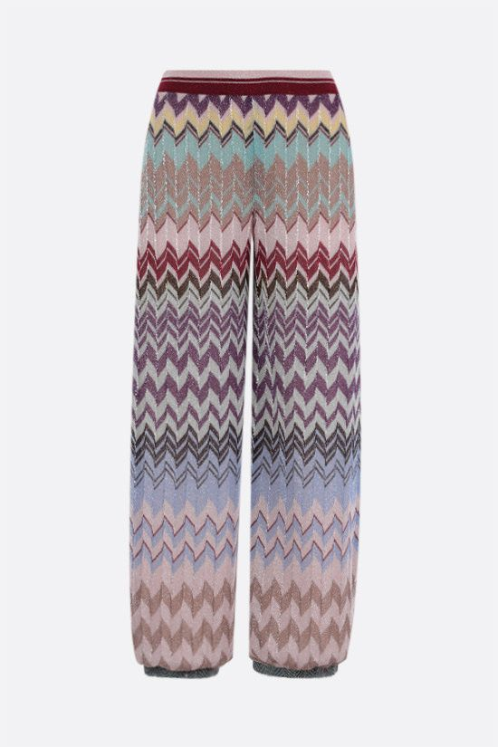 MISSONI: zigzag-motif lightweight knit cropped pants Color Multicolor_1