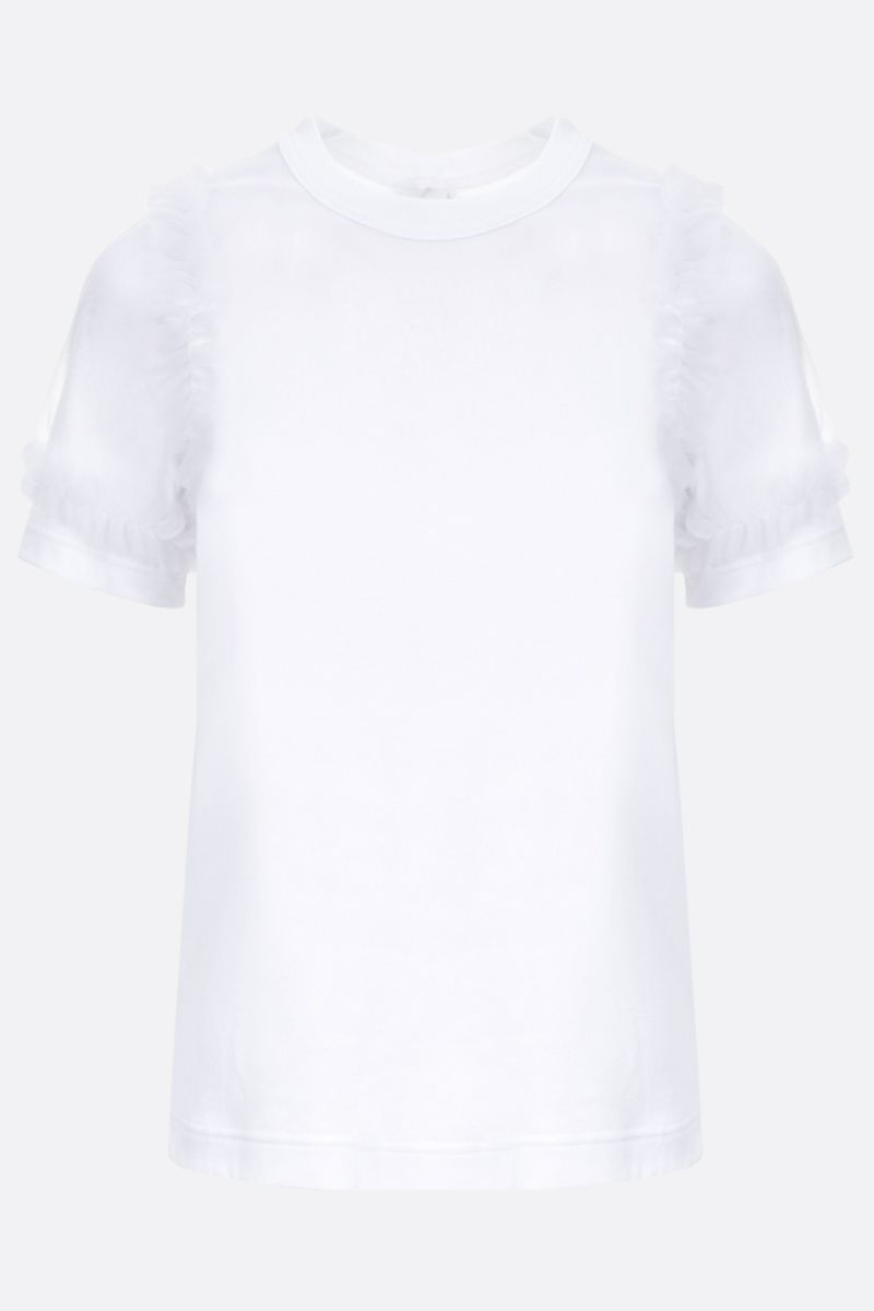 COMME des GARCONS NOIR KEI NINOMIYA: t-shirt in cotone con rouches Colore White_1