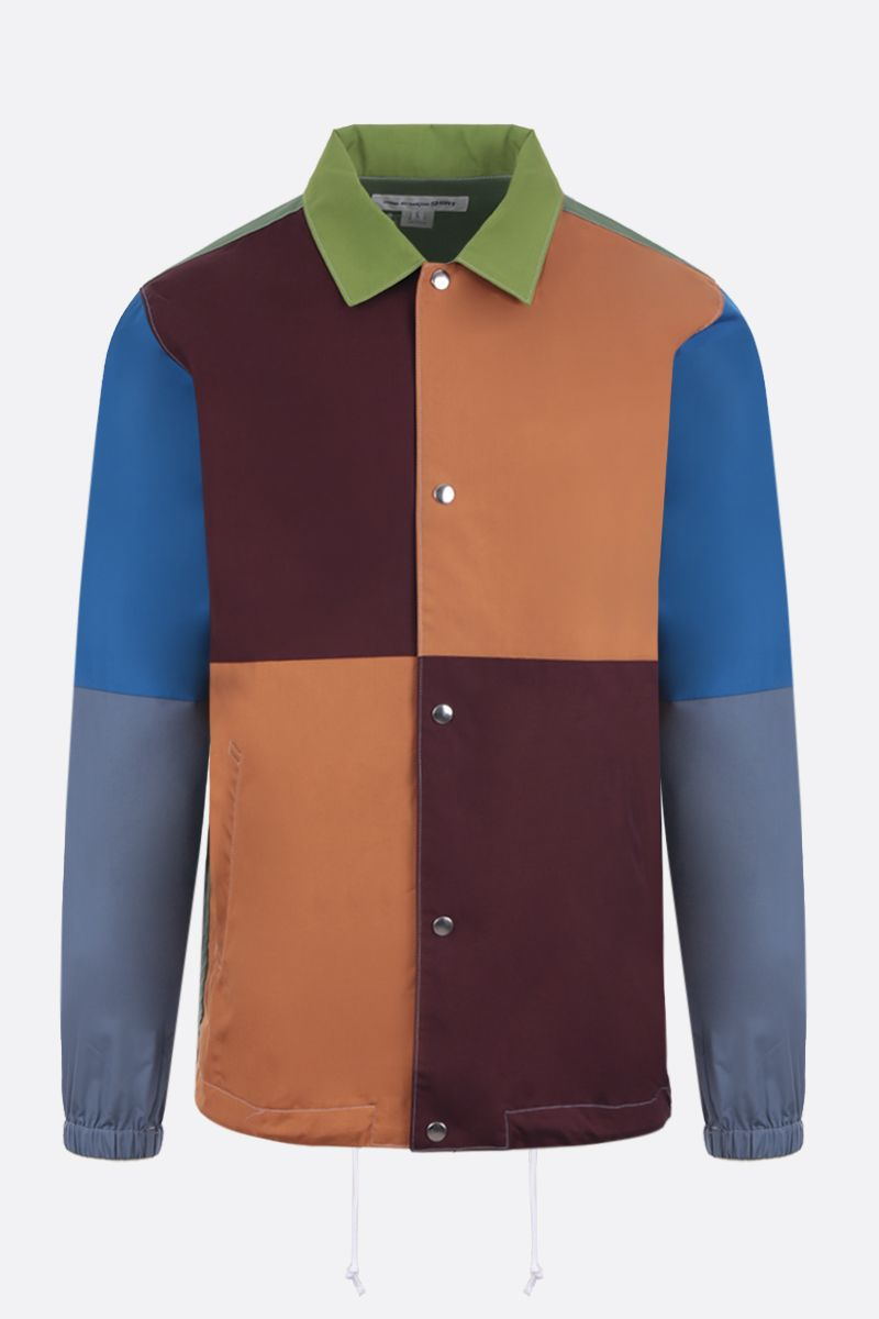 COMME des GARCONS SHIRT: giacca-camicia in cotone color-block_1