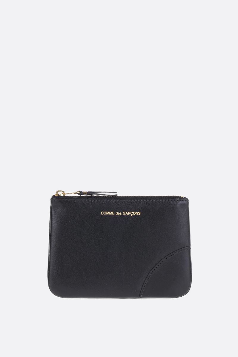 COMME des GARCONS WALLET: busta small in pelle liscia Colore Nero_1