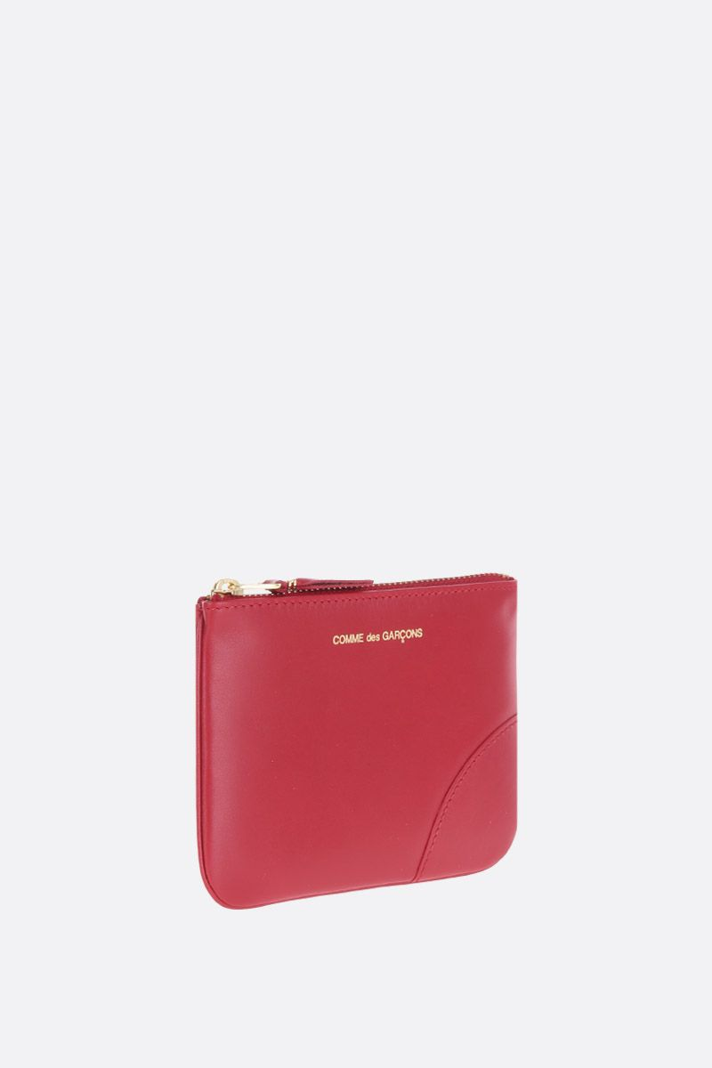 COMME des GARCONS WALLET: smooth leather small pouch Color Red_2