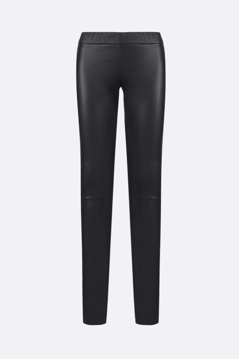 SYLVIE SCHIMMEL: Fun stretch nappa leggings Color Grey_1