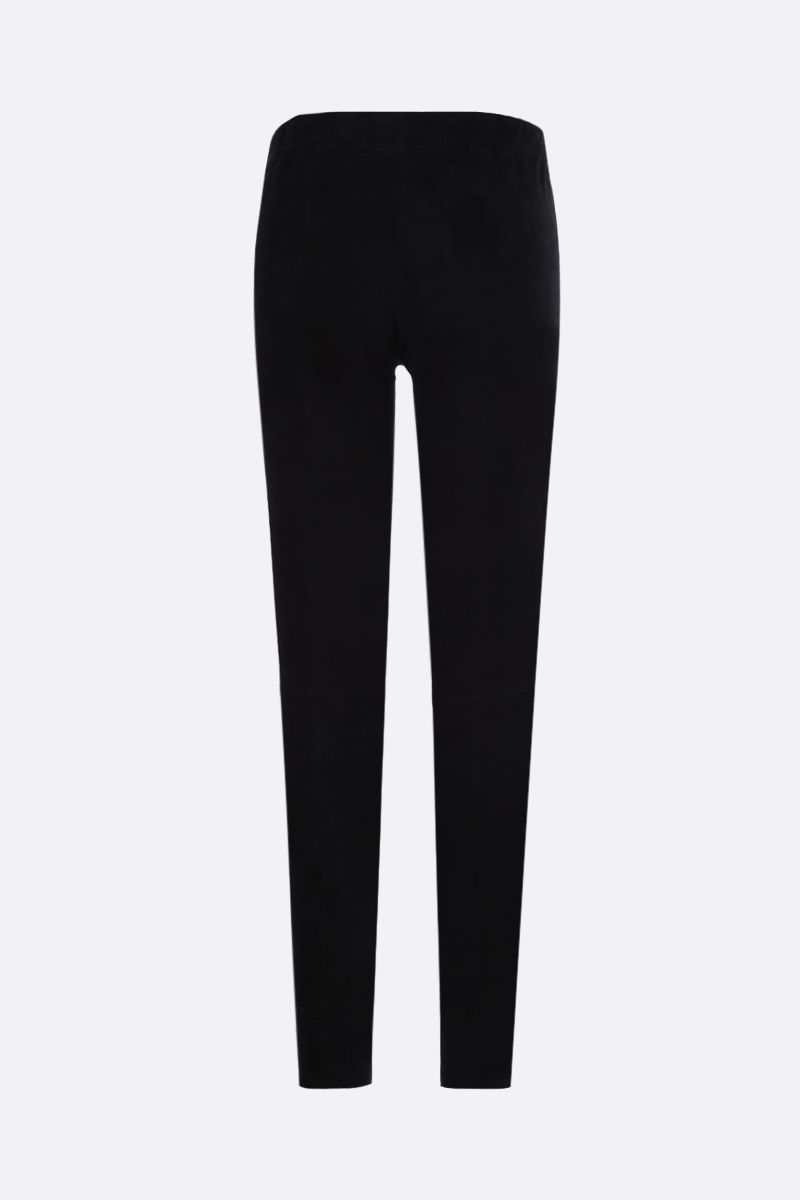 SYLVIE SCHIMMEL: Fun stretch suede leggings Color Black_2