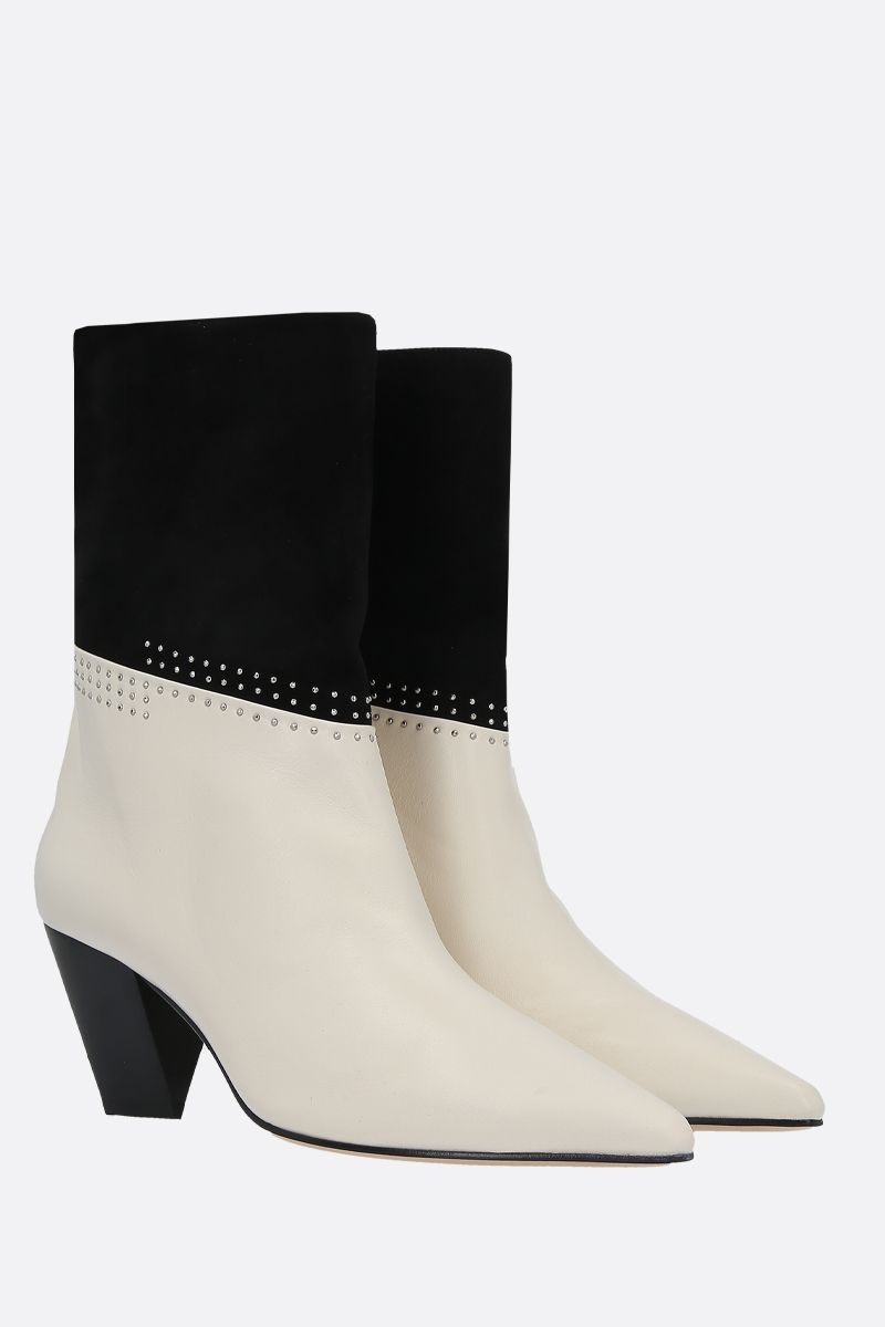JIMMY CHOO: Bear soft nappa and suede ankle boots Color Grey_2