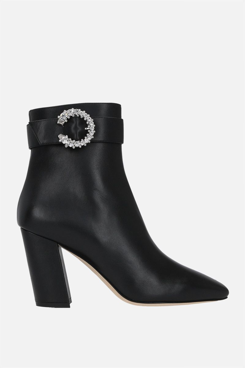 JIMMY CHOO: Myan smooth leather ankle boots Color Black_1