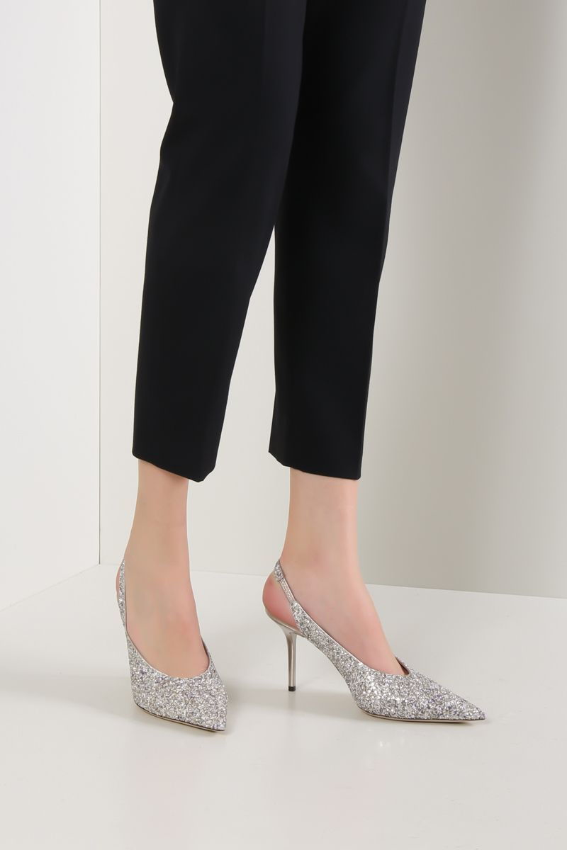 JIMMY CHOO: Ivy slingbacks in glitter fabric Color Multicolor_2