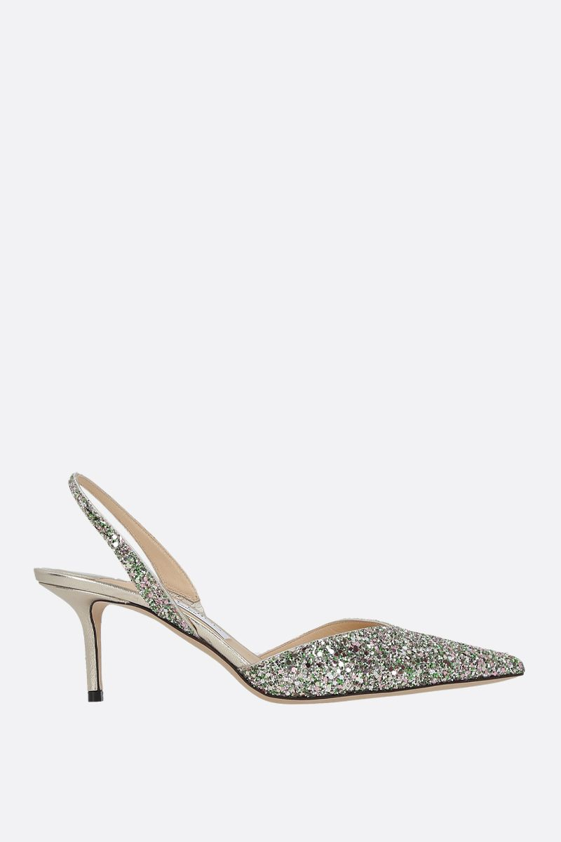 JIMMY CHOO: Thandi glitter fabric slingbacks Color Multicolor_1